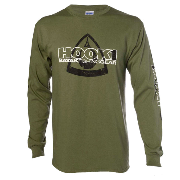CLOSEOUT: HOOK 1 Faded Spearpoint Logo L/S T-Shirt
