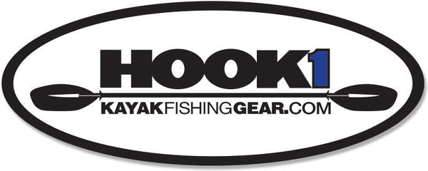 "HOOK 1 Oval Decal - 5"" X 2""  Accessories kayakfishinggear - Hook 1 Outfitters/Kayak Fishing Gear"