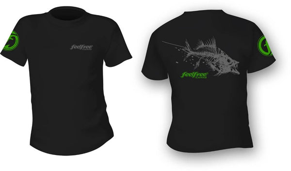 FeelFree Black T-Shirt  Apparel FeelFree - Hook 1 Outfitters/Kayak Fishing Gear