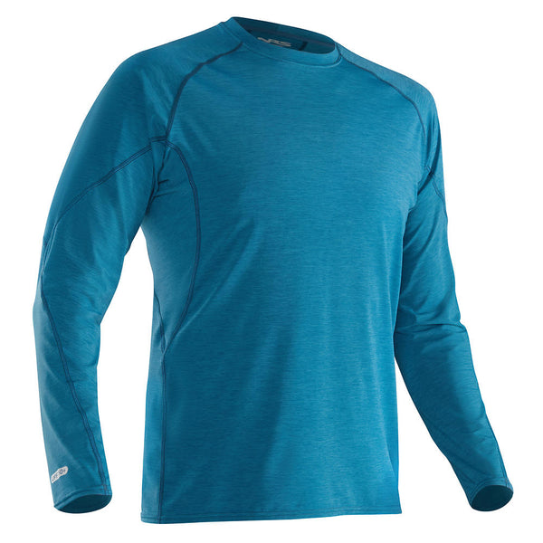 NRS Men's H2Core Silkweight Long-Sleeve Shirt Moroccan Blue / Small Tops NRS - Hook 1 Outfitters/Kayak Fishing Gear