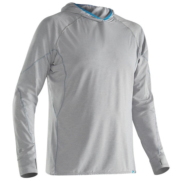 NRS Men's H2Core Silkweight Hoodie Quarry / Small Tops NRS - Hook 1 Outfitters/Kayak Fishing Gear