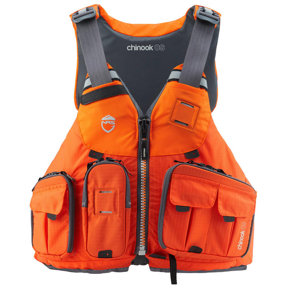2019 Chinook OS Fishing PFD Orange / XS/M Life Jackets - PFDs and FLOTATION NRS - Hook 1 Outfitters/Kayak Fishing Gear