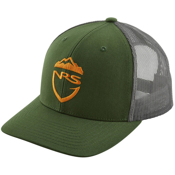 NRS Fishing Trucker Hat Army Olive Hats NRS - Hook 1 Outfitters/Kayak Fishing Gear