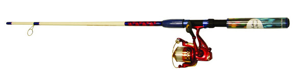 MASTER RODDY HUNTER LED COMBO SPINNING RED/WHT/BLUE 7ft 2pc  Rod & Reel Combos Master Fishing - Hook 1 Outfitters/Kayak Fishing Gear