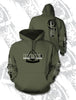 HOOK 1 Faded Spearpoint Logo Hoodie  Apparel HOOK 1 - Hook 1 Outfitters/Kayak Fishing Gear