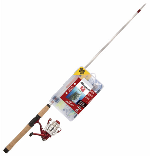 Shakespeare Catch More Fish Bass Combo Spinning 6Ft 6In 2Pc W/Tackle  Rod & Reel Combos Shakespeare - Hook 1 Outfitters/Kayak Fishing Gear