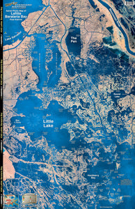 STANDARD LAMINATED MAP LAFITTE/BARATARIA  Fishing Accessories Standard Map - Hook 1 Outfitters/Kayak Fishing Gear