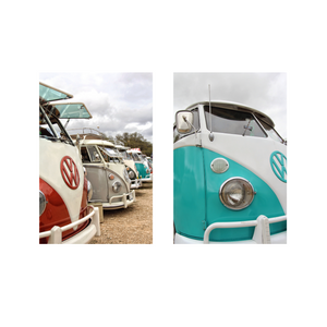 Red and Turquoise VW Collection