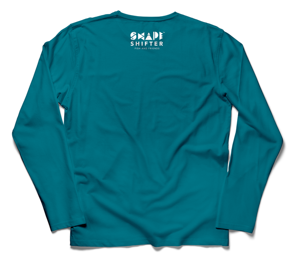 Teal Trout Youth Long Sleeve Shirt - ShapeShifter Fish and Friends
