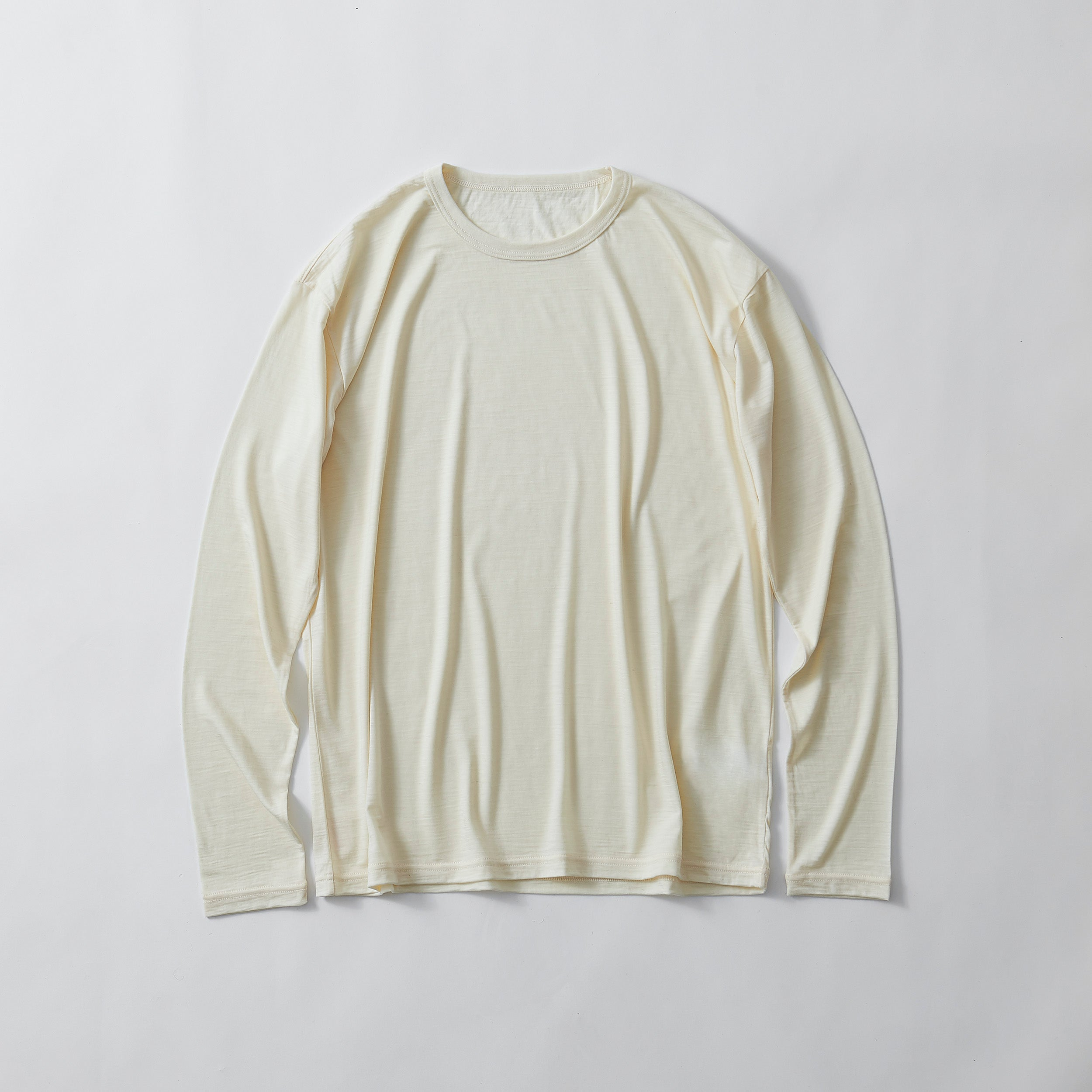 SMOOTH WOOL T-SHIRT(LONG SLEEVE)