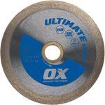 Ultimate Wet Glass Tile Diamond Blade Series | Tile/Glass - OX Tools