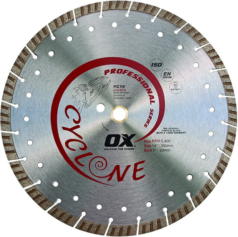 Supercut Segmented Diamond Blade Series | Concrete/General Purpose - OX Tools