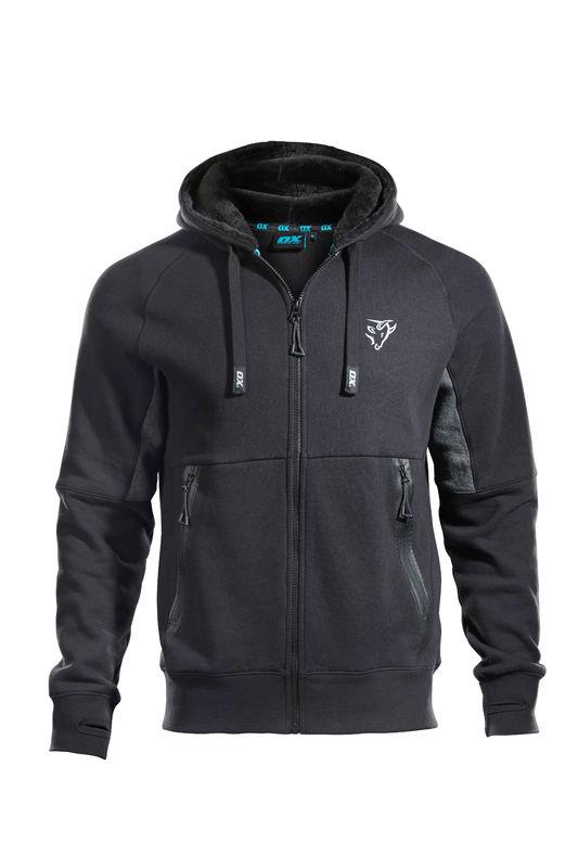 OX Zip Through Hoodie - Black - OX Tools