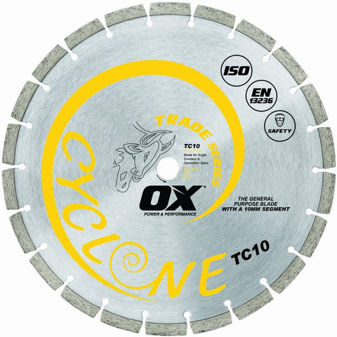 Trade Cyclone Diamond Blade Series | General Purpose - OX Tools