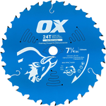 Pro 7-1/4-Inch 24-Tooth Wood Cutting Blades | 10 Pack - OX Tools