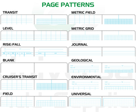 A List Of Available Notebook Page Patterns