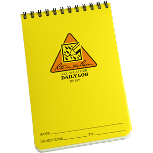 Rite in the Rain Daily Log Notebook