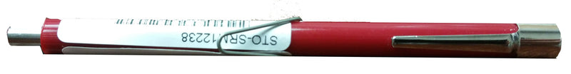 Side view of red pencil magnet