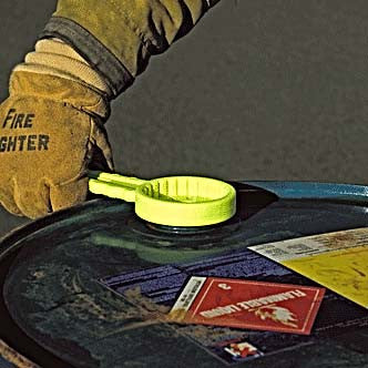 Yellow Scotty Drum And Pail Wrench Being Used On Drum