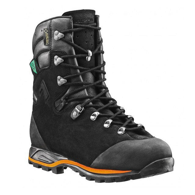 An Orange Safety Boot With Black Laces And Orange Trim