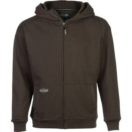 Front View Of Brown Double Thick Full Zip Sweather