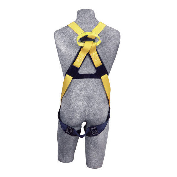 A Yellow Harness On Grey Mannequin, Back View