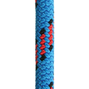 Close-up of blue moon climbing rope