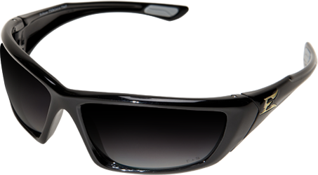 Edge RobsonSafety Glass.  Polarized Smoke Lens. Black Frame