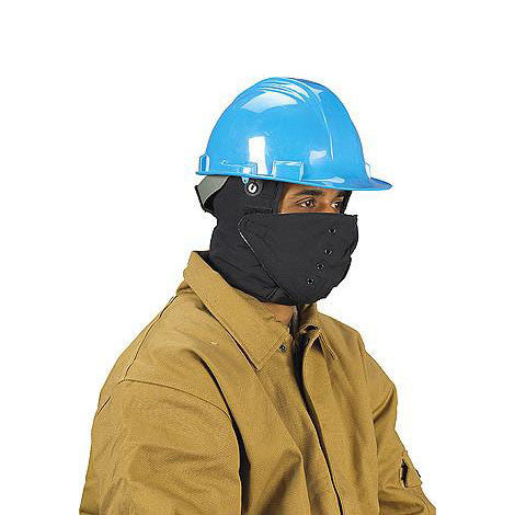 Cotton Winter Hardhat Liner With Face Shield