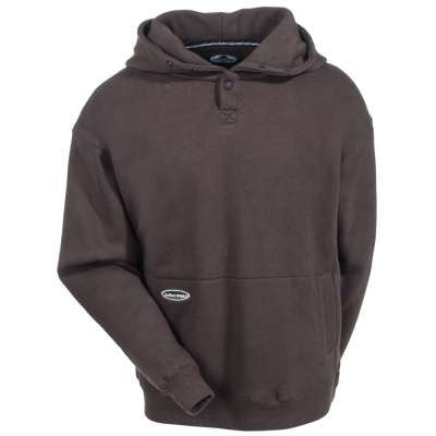 Front View Of A Brown Pullover Hoodie