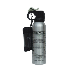 A Silver Can Of Bear Beware Spray