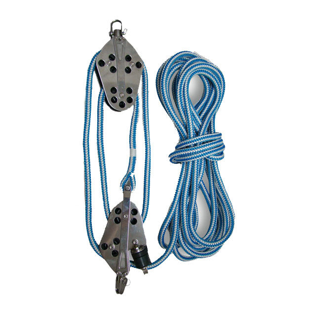 A Block And Tackle Set, Seen With Bluestreak Rope