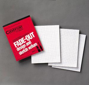 Clearprint Fade Out Gridded Vellum 8.5 in x 11 in