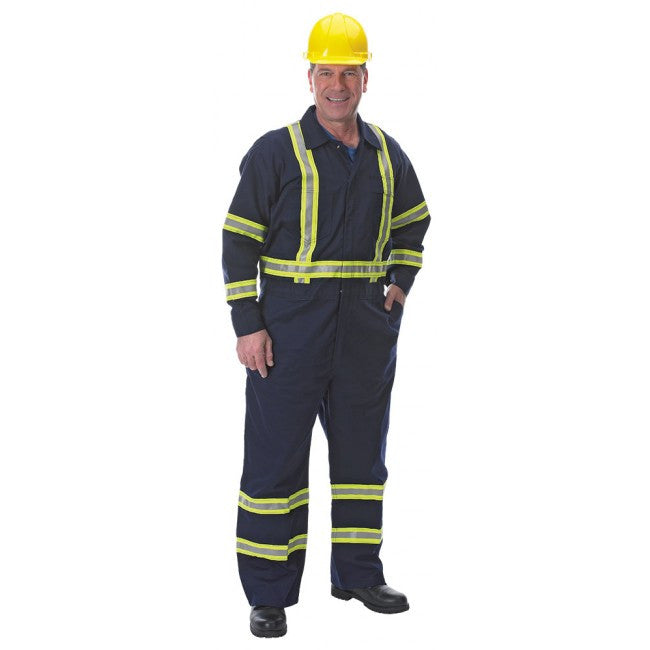Model With Blue Coveralls And Yellow Hard Hat