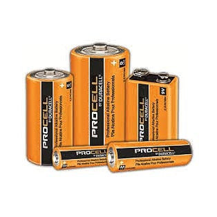 Various Sizes Of Duracell Batteries