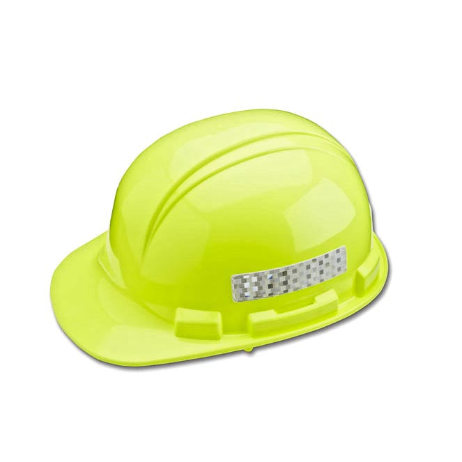 Yellow Hardhat With Reflective Strips