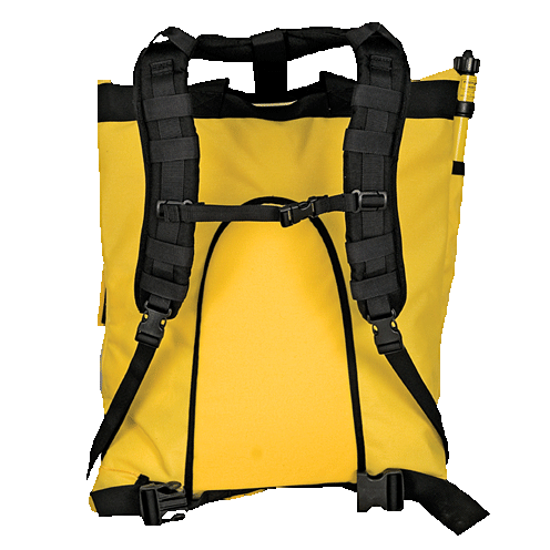Front View Of Yellow Backpack Fire Pump