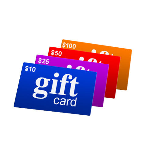 Several Colors Of Gift Cards, In Different Denominations