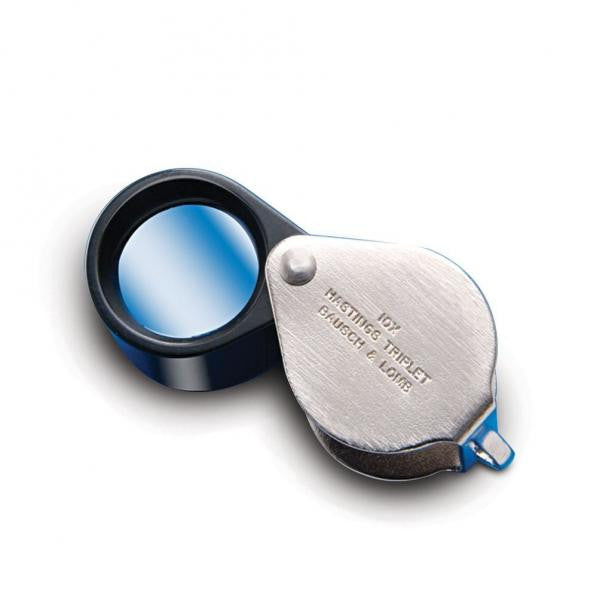 Fully open hand lens, with metal housing