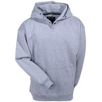 Front View Of A Grey Pullover Hoodie