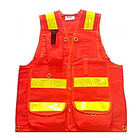 Orange Cotton Cruiser Vest