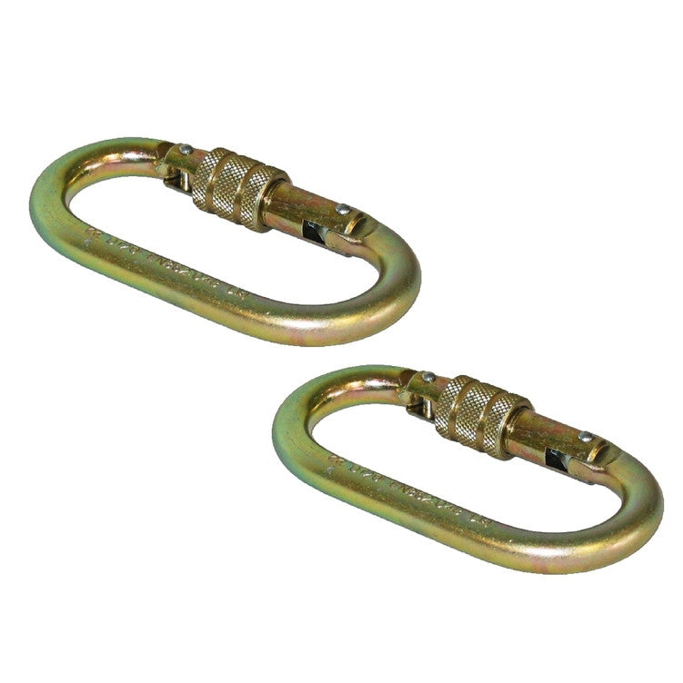 Two Locking Carabiners