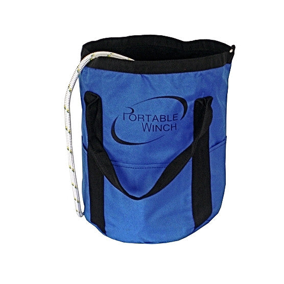 Blue Portable Winch Small Rope Bag