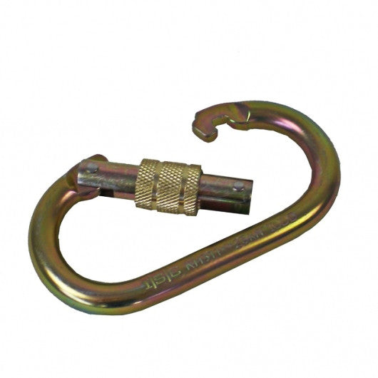 A Steel Carabiner With Open Lock