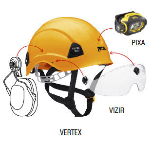 Yellow Vertex Best Helmet with Diagram