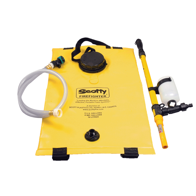 Yellow Backpack Fire Pump With Accessories