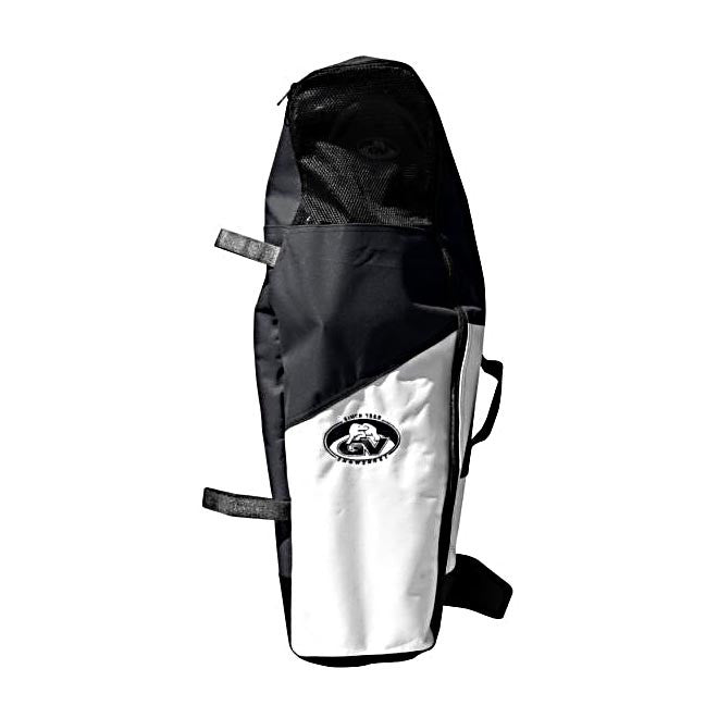 A SIlver And Black Snowshoe Bag