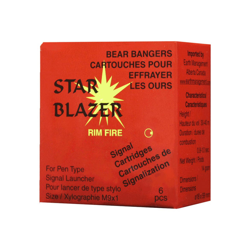 A Red Box With Star Blazer Logo And Information