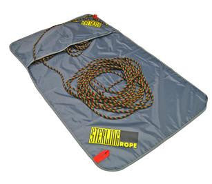 An unraveled sterling rope tarp, seen here with rope.