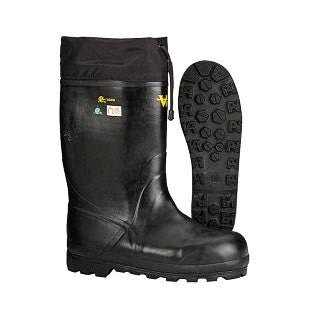 Black Viking Extreme Winter Boot, Side And Bottom View